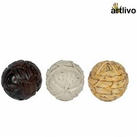 ARTLIVO Set Of Three Painted Wooden Orbs CU001