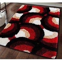 Designer Carpet COMFORT-Circle-Red (150 x 230cm)