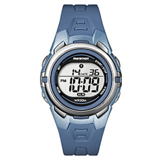 Timex Marathon Collection Grey & Blue Dial Digital Watch For T5K362