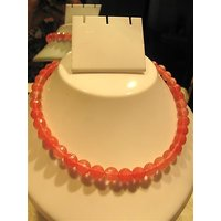 Firstloot Cute Bead Necklace Set In Peach Colour - BD29