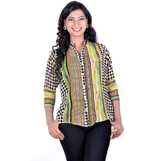 Vivaa Stylish Printed Ladies Shirt VGS-01