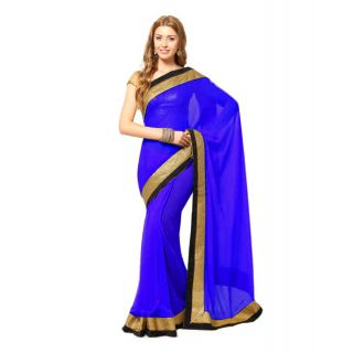 Madhuri Jhalak Liril Bollywood Replica Saree Blue