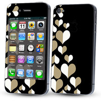 Skintice Designer Skin Sticker For Apple IPhone 44S Design  Heart Pattern