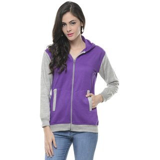 Lavennder Cotton Burshed Sweat Shirt Free Size Fit S To L 5812