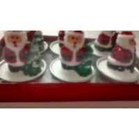 Santa Candles.... Set Of 6 Candles