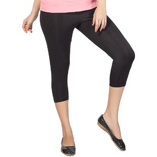 Clifton Women's Jet Black Velvet Capri