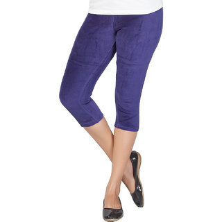 Clifton Women's Twilight Blue Velvet Capri