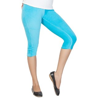 Clifton Women's Sea Blue Velvet Capri