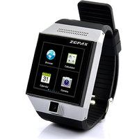 Android Smart Phone Watch - 1.54 Inch Touch Display, Camera WiFi GPS (Silver)