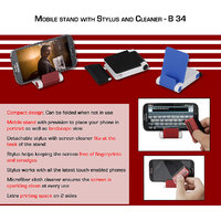 Daimo B34 - Folding Mobile Stand With Detachable Stylus And Cleaner