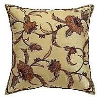 Designer Brocade Cushions Brown Set Of 4