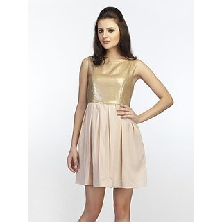 Schwof Gold Glitter Dress