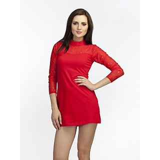 Schwof Red Mandarin Dress