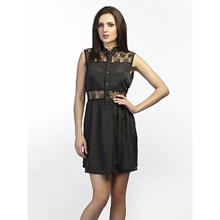 Schwof Black Detail Lace Dress