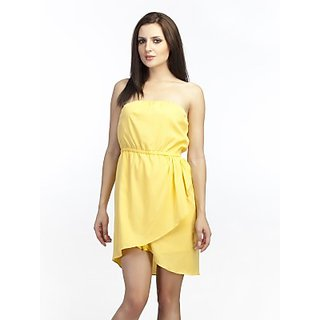 Schwof Yellow Off-Shoulder Dress