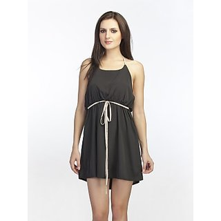 Schwof Black Tie Up Dress
