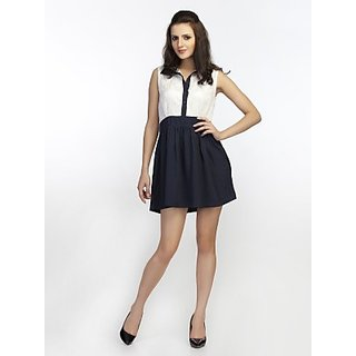Schwof Black Collar Lace Dress