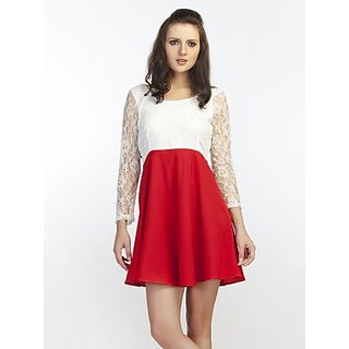 Schwof Red Bow Dress