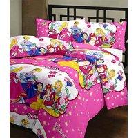 SnatchRate White & Pink Barbie Design AC Dohar/Duvet/AC Blanket