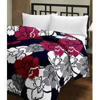SnatchRate Black Floral Design AC Dohar/Duvet/AC Blanket
