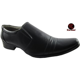 Leather Formal Shoes, Black Formal Shoes For Men Size 10 By Karnaaz