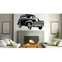 Decor Kafe Vintage Car Wall Decal -(Medium)