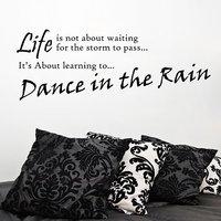 Decor Kafe Dance In The Rain Wall Decal -(Large)