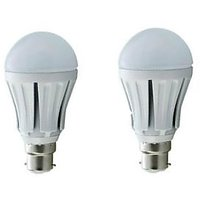 Pack Of 2 Led Bulbs 3 Watt For 80% Power Saving