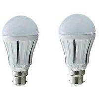 Pack Of 2 Led Bulbs 3 Watt For 80% Power Saving