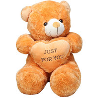 Brown Teddy Bear With Heart Just For You  55cm
