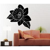 Decor Kafe Black Rose Large Wall Decal -(Large)