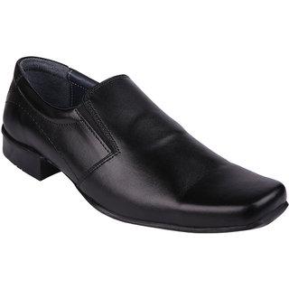 Hi-tech Black Leather Formal Slip-on Shoes - 6389470