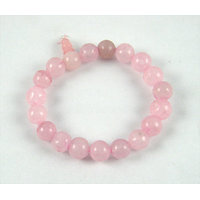 Feng Shui /Natural  Rose Quartz Stone Bracelet For Enhance Love Relationship. - 6391500