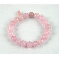 Feng Shui /Natural  Rose Quartz Stone Bracelet For Enhance Love Relationship. - 6391500