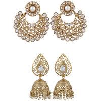 Arsya Jewellery Golden Chandbali Austrian Diamond Golden Jhumki AOC113