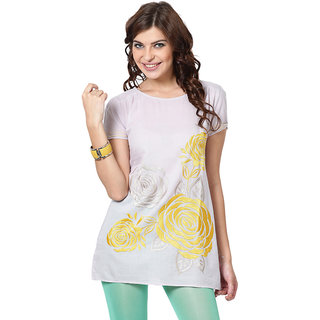 LOVE FROM INDIA  SOLID LONG TUNIC _buy One Tunic Get One Scraf Free - 5160268