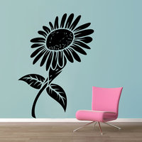 Decor Kafe Black And White Sunflower Wall Decal -(Large)