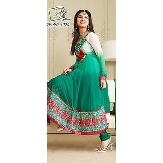 13b7ec0c1b Buy Designer Anarkali semi stitched dress material Online - Get 19% Off