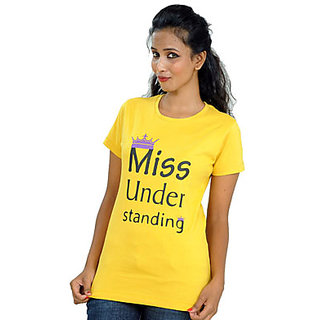 Kapdaclick Crew Neck Cotton Tees Yellow Missunderstanding