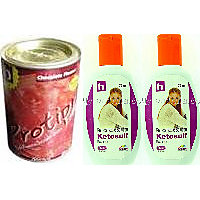 Hair Fall Control Kit - Hair Fall Shampoo(antidandruff)2 Pcs And  Powder(multivitamins & Multiminerals)