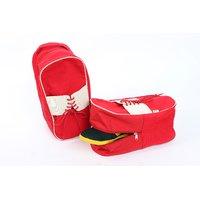 Fair Brigade Shoe Cum Travel  Utility Bag Red