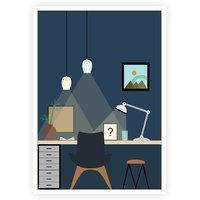 Home Study Room Art Decor Gift For Friends And Children Poster