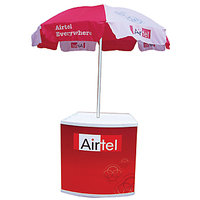 Promo Table With Umbrella