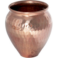 Prisha India Set Of 2, Copper, Kalash 'Lota' Pitcher Copper Utensils Ayurveda Healing
