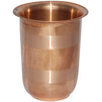 Prisha India Handmade Pure Copper Glass Silver Touch For Ayurveda Healing