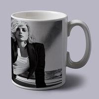 Scarlett Johanson Black And White Coffee Mug