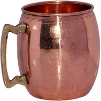 Prisha India Pure Copper Moscow Mule Mug With Brass Handle