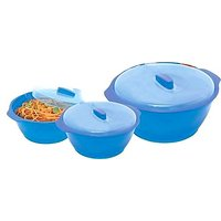 Set Of 3 Twist N Serve Microwave Safe Cookware Set Small
