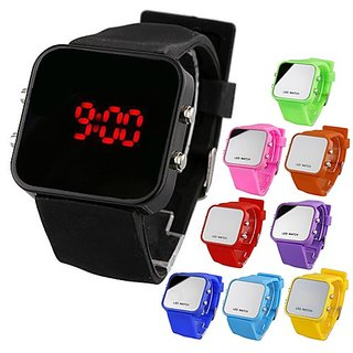 Silicone Band Red LED Wrist Watch For Men Women Free Shiping