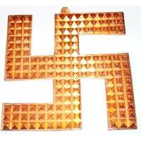 "Copper Swastik Pyramids 4"" Solution To All Vastu Problems"